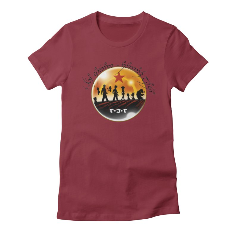 The Lord of the Balls - The Fellowship of the Dragon Women's Fitted T-Shirt by Q101 Shop