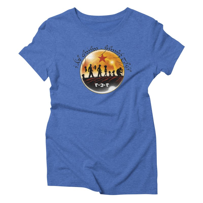 The Lord of the Balls - The Fellowship of the Dragon Women's Triblend T-Shirt by Q101 Shop