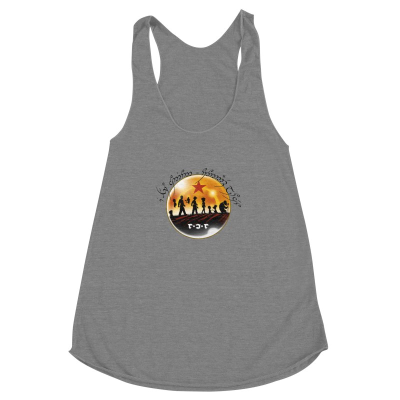 The Lord of the Balls - The Fellowship of the Dragon Women's Racerback Triblend Tank by Q101 Shop