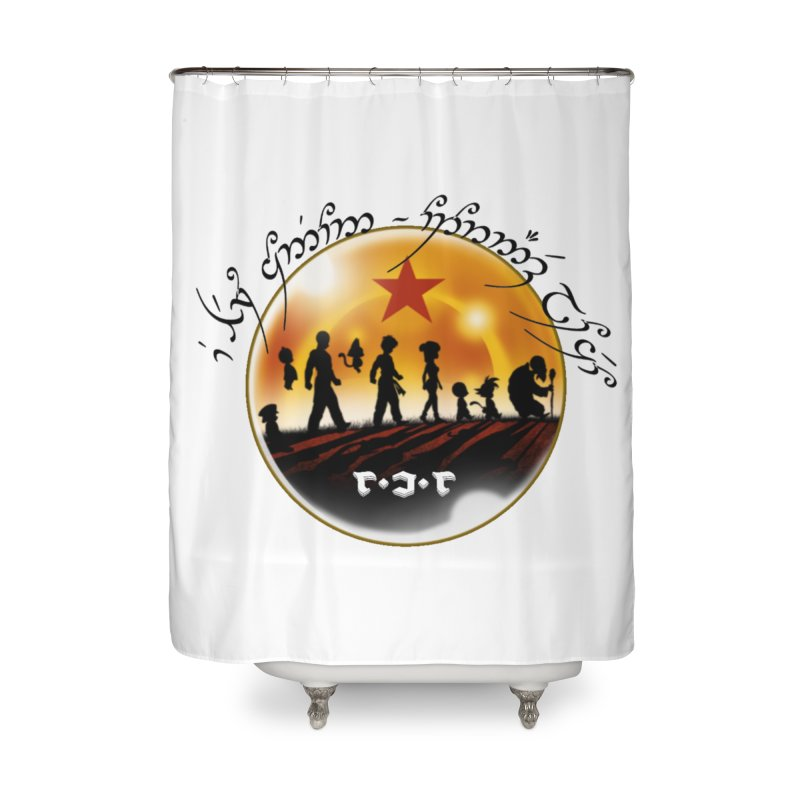 The Lord of the Balls - The Fellowship of the Dragon Home Shower Curtain by Q101 Shop