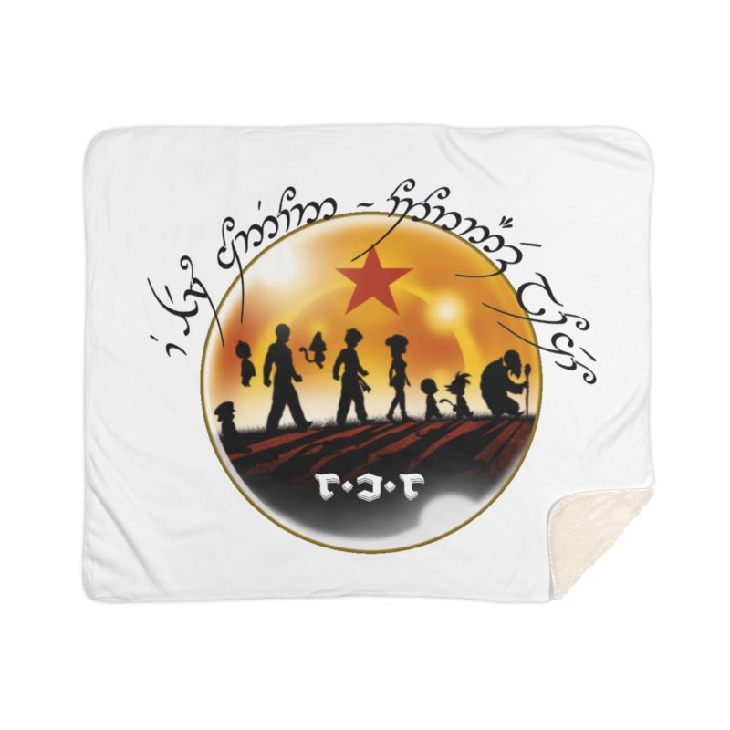 The Lord of the Balls - The Fellowship of the Dragon Home Sherpa Blanket Blanket by Q101 Shop