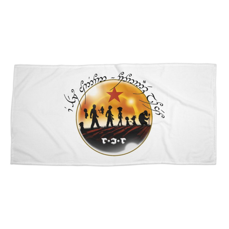 The Lord of the Balls - The Fellowship of the Dragon Accessories Beach Towel by Q101 Shop