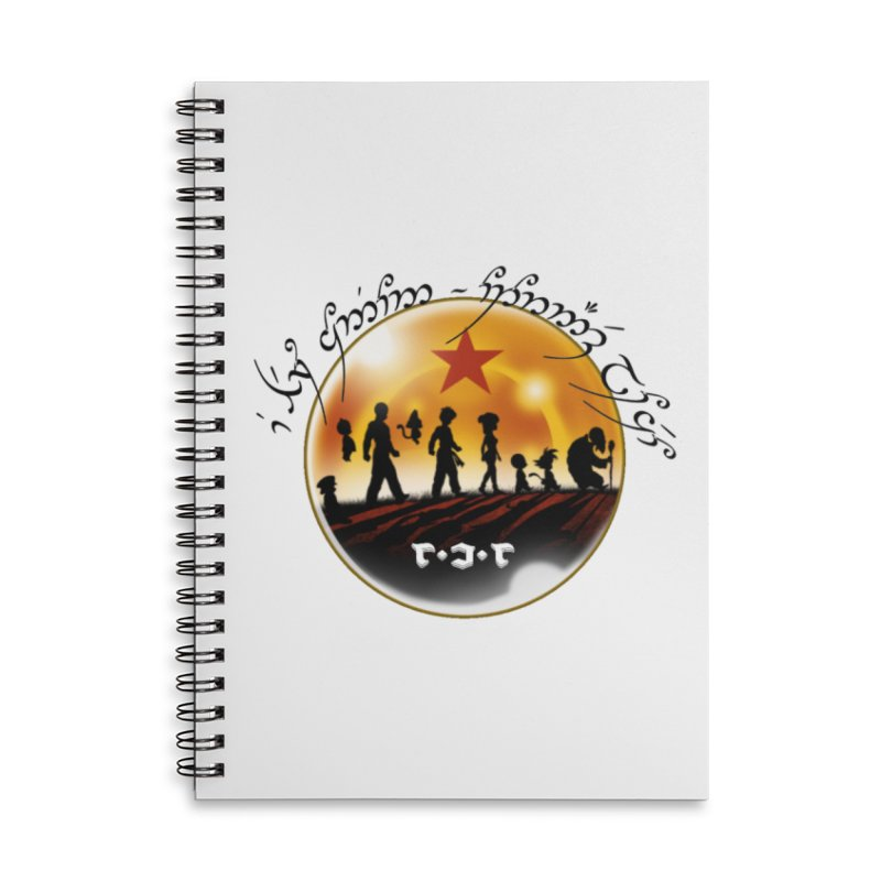 The Lord of the Balls - The Fellowship of the Dragon Accessories Lined Spiral Notebook by Q101 Shop