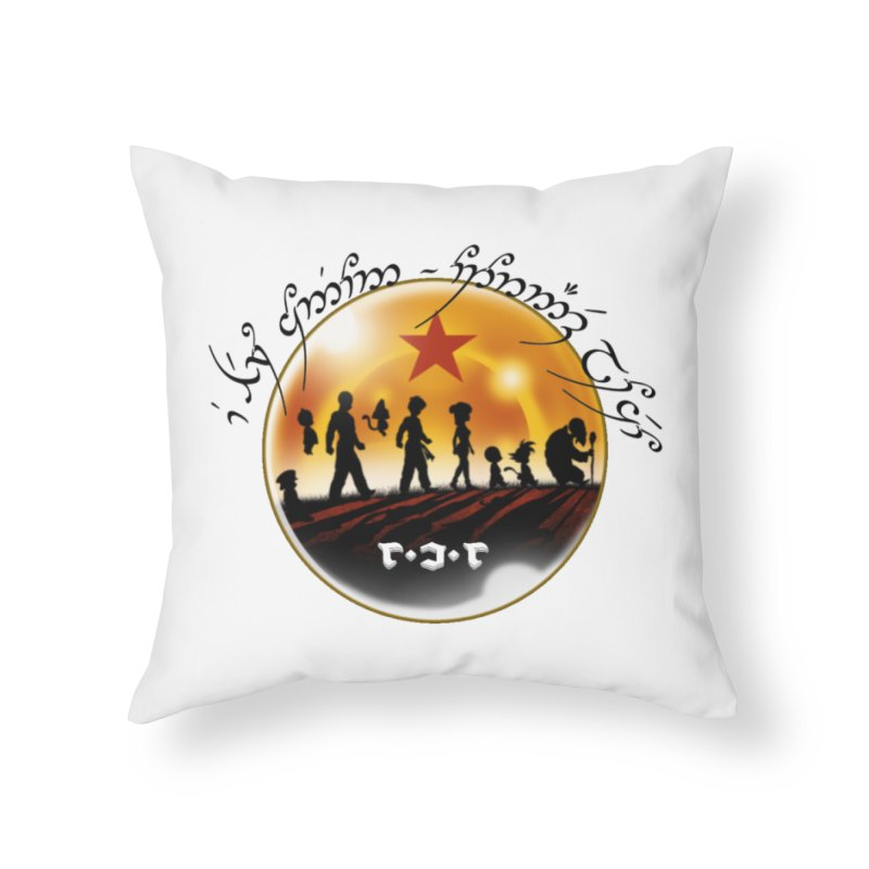 The Lord of the Balls - The Fellowship of the Dragon Home Throw Pillow by Q101 Shop