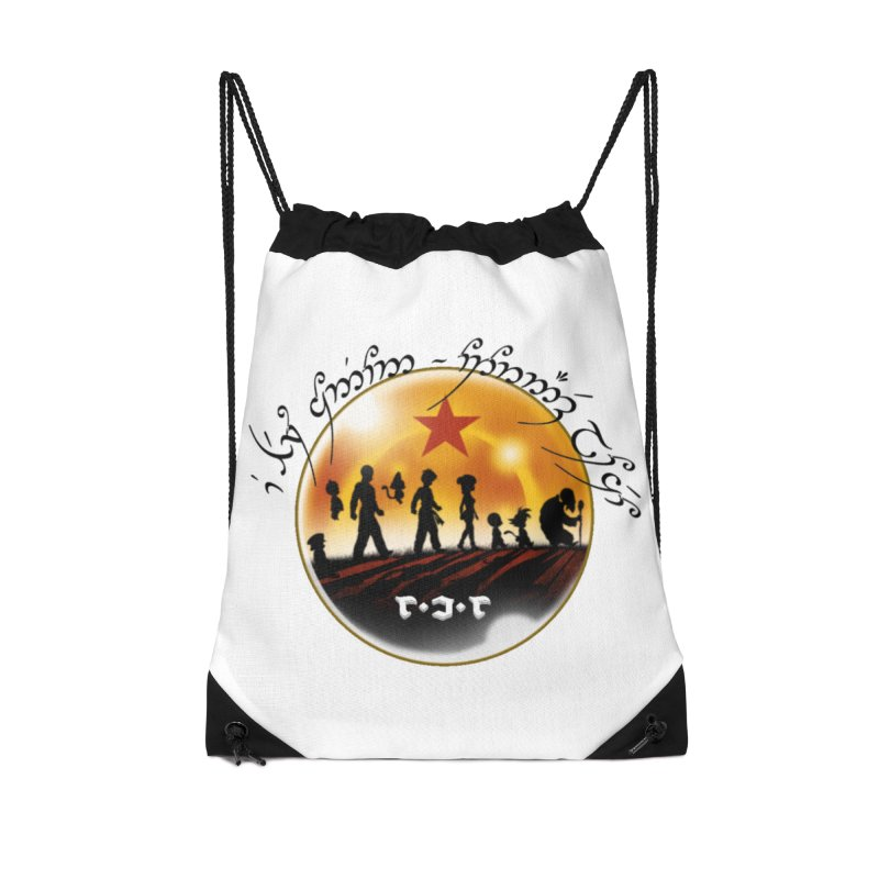 The Lord of the Balls - The Fellowship of the Dragon Accessories Drawstring Bag Bag by Q101 Shop