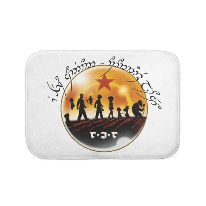 The Lord of the Balls - The Fellowship of the Dragon Home Bath Mat by Q101 Shop