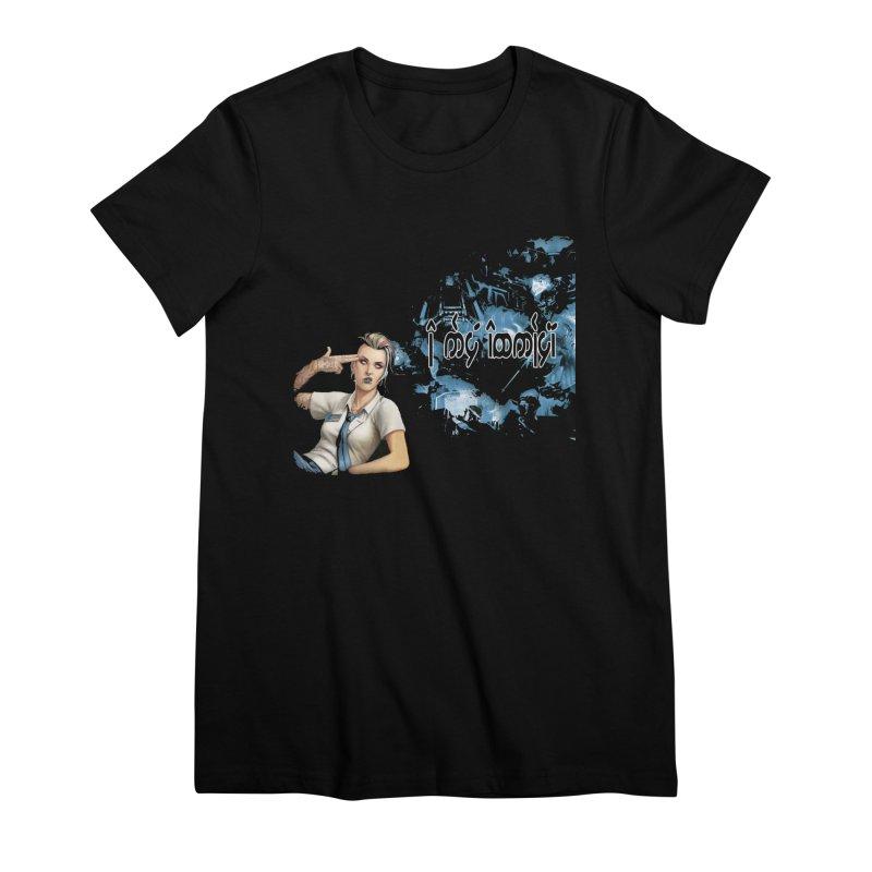 Run faster, Netrunner! Women's Premium T-Shirt by Q101 Shop