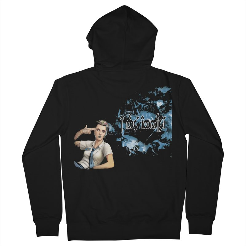 Run faster, Netrunner! Men's French Terry Zip-Up Hoody by Q101 Shop