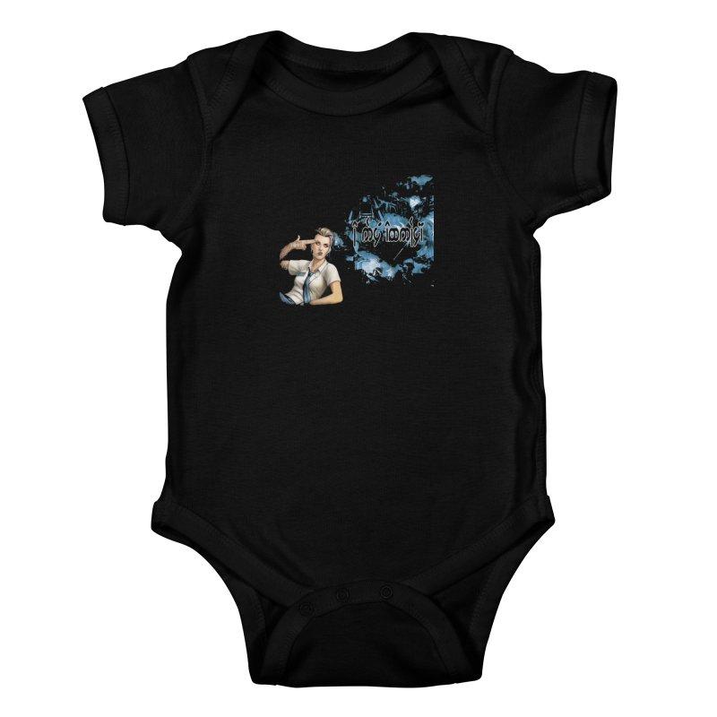 Run faster, Netrunner! Kids Baby Bodysuit by Q101 Shop