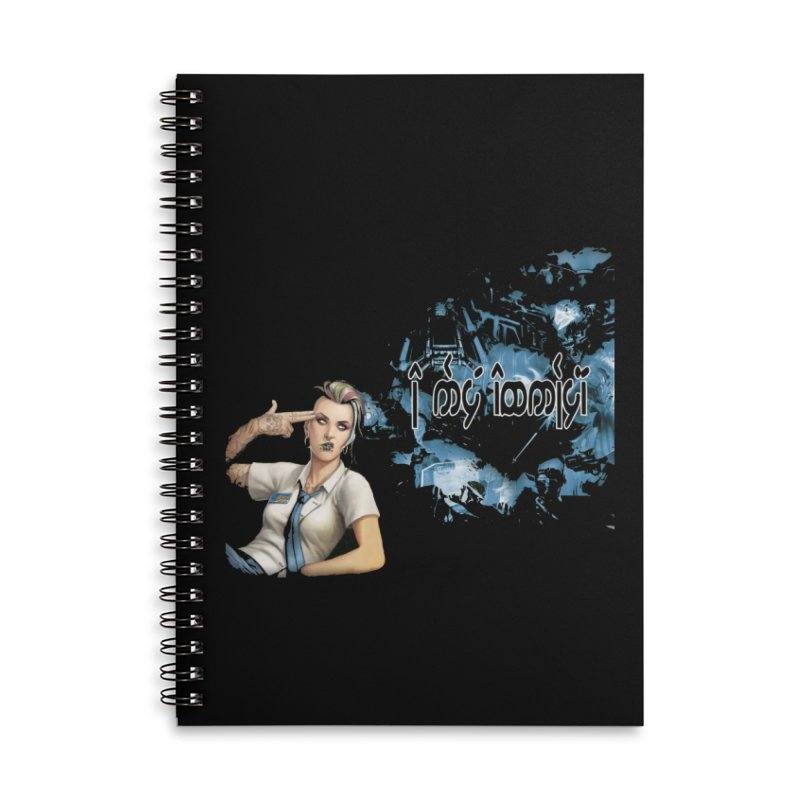 Run faster, Netrunner! Accessories Lined Spiral Notebook by Q101 Shop