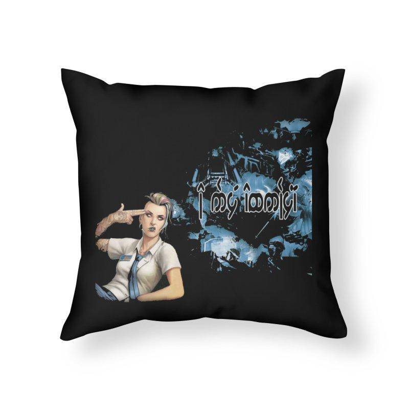 Run faster, Netrunner! Home Throw Pillow by Q101 Shop