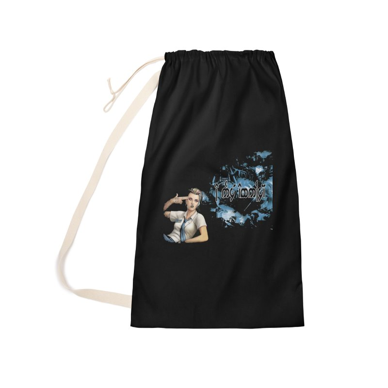 Run faster, Netrunner! Accessories Laundry Bag Bag by Q101 Shop