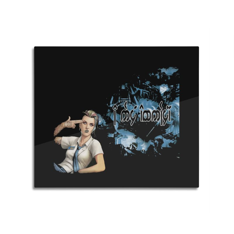 Run faster, Netrunner! Home Mounted Acrylic Print by Q101 Shop