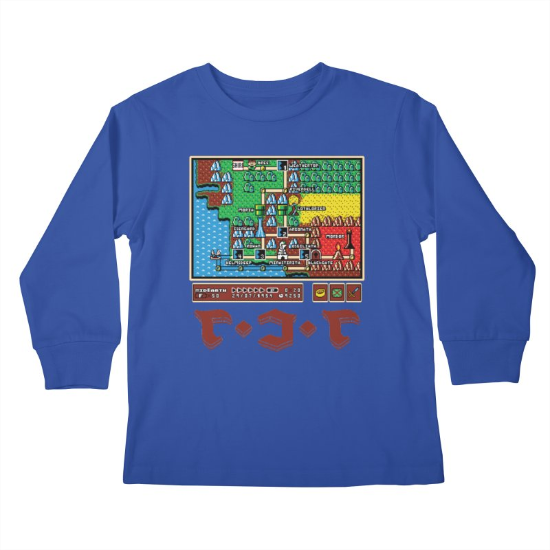 Super Fellowship Bros Kids Longsleeve T-Shirt by Q101 Shop