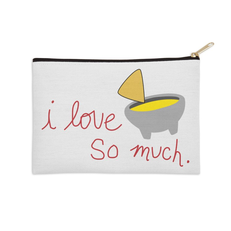 I Love Queso So Much - Logo Accessories Zip Pouch by I Love Queso So Much - Shop
