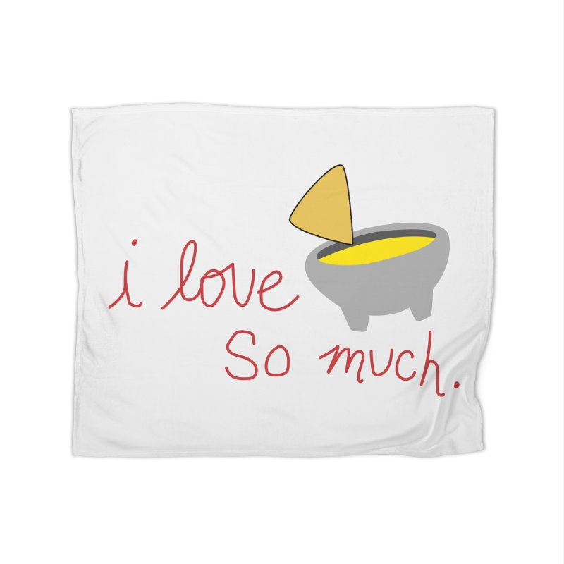 I Love Queso So Much - Logo Home Fleece Blanket Blanket by I Love Queso So Much - Shop