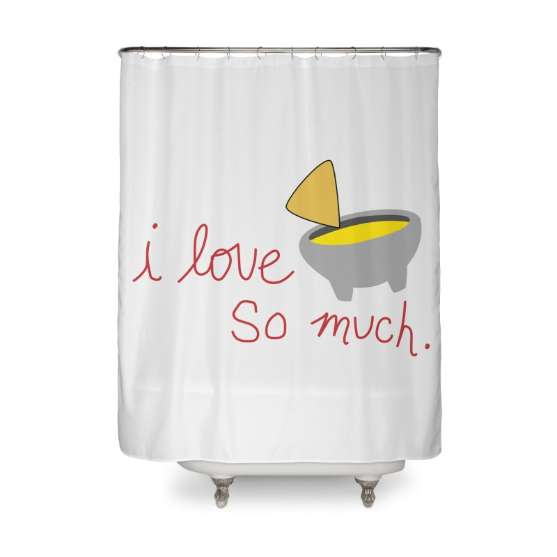 I Love Queso So Much - Logo Home Shower Curtain by I Love Queso So Much - Shop