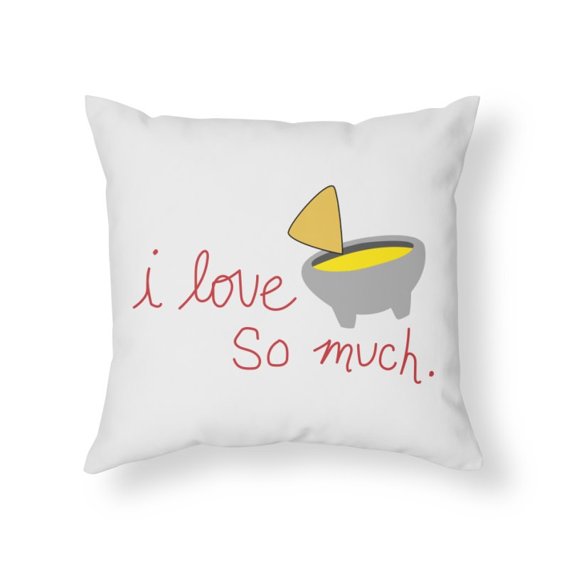 I Love Queso So Much - Logo Home Throw Pillow by I Love Queso So Much - Shop