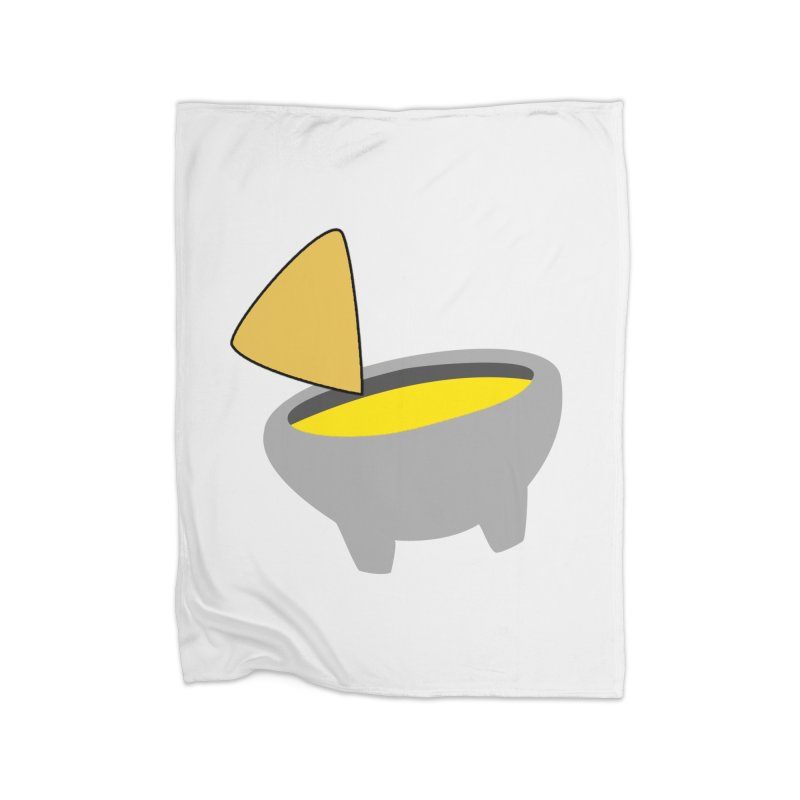 I Love Queso So Much - Chips and Queso Logo Home Fleece Blanket Blanket by I Love Queso So Much - Shop