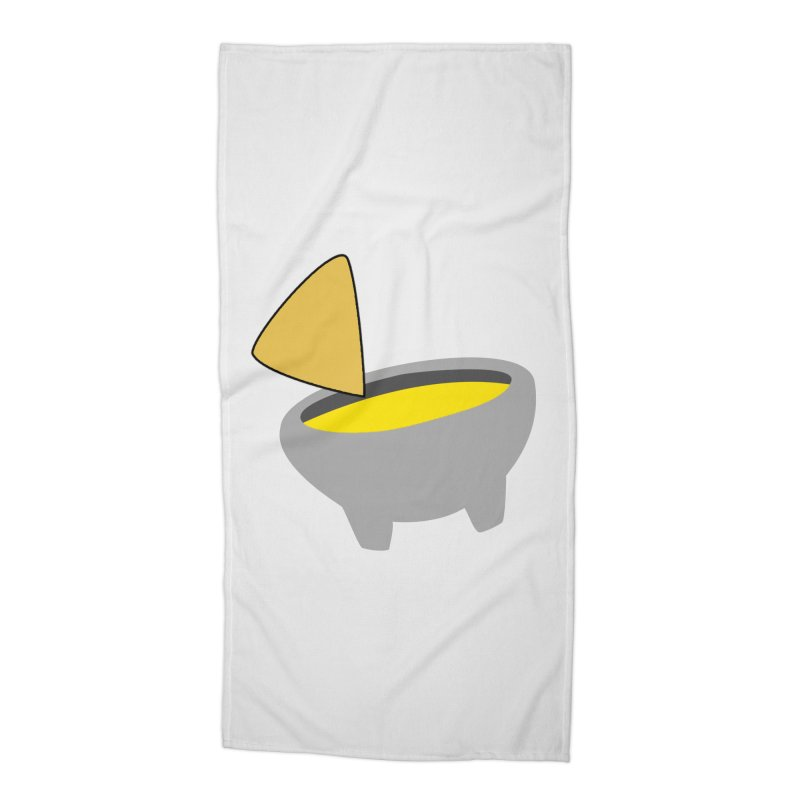 I Love Queso So Much - Chips and Queso Logo Accessories Beach Towel by I Love Queso So Much - Shop