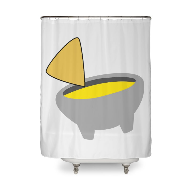 I Love Queso So Much - Chips and Queso Logo Home Shower Curtain by I Love Queso So Much - Shop