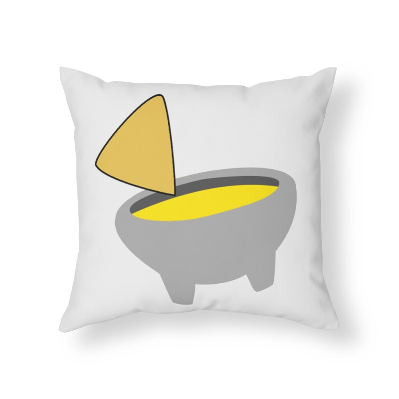 I Love Queso So Much - Chips and Queso Logo Home Throw Pillow by I Love Queso So Much - Shop