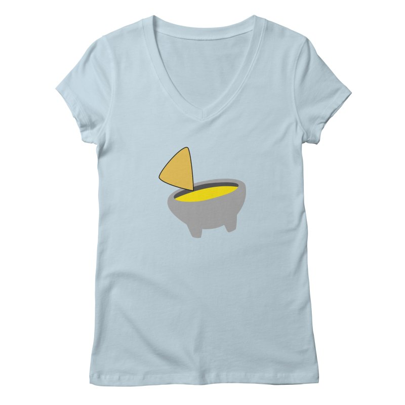 I Love Queso So Much - Chips and Queso Logo Women's Regular V-Neck by I Love Queso So Much - Shop