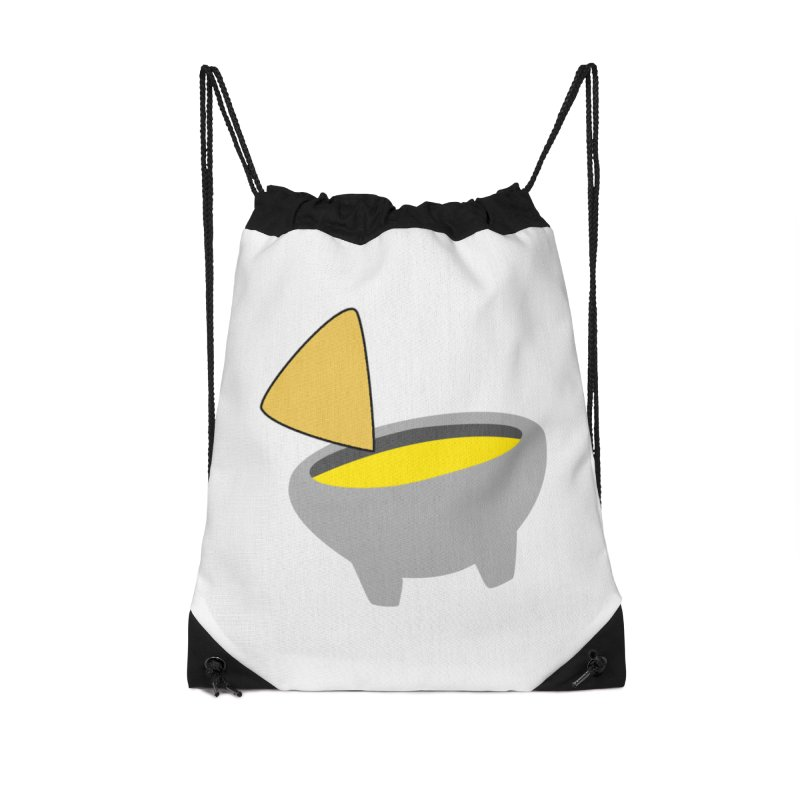 I Love Queso So Much - Chips and Queso Logo Accessories Drawstring Bag Bag by I Love Queso So Much - Shop