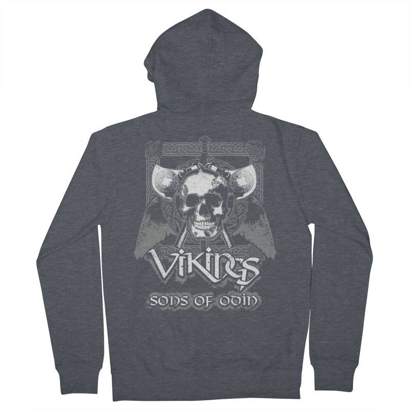 Sons of Odin - Distressed design Women's Zip-Up Hoody by Designs by Quicky