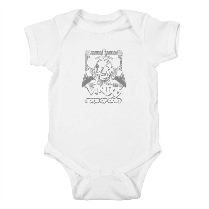 Sons of Odin - Distressed design Kids Baby Bodysuit by Designs by Quicky