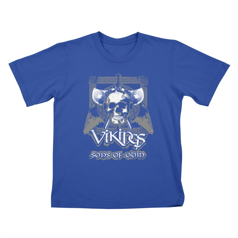 Sons of Odin - Distressed design Kids T-Shirt by Designs by Quicky