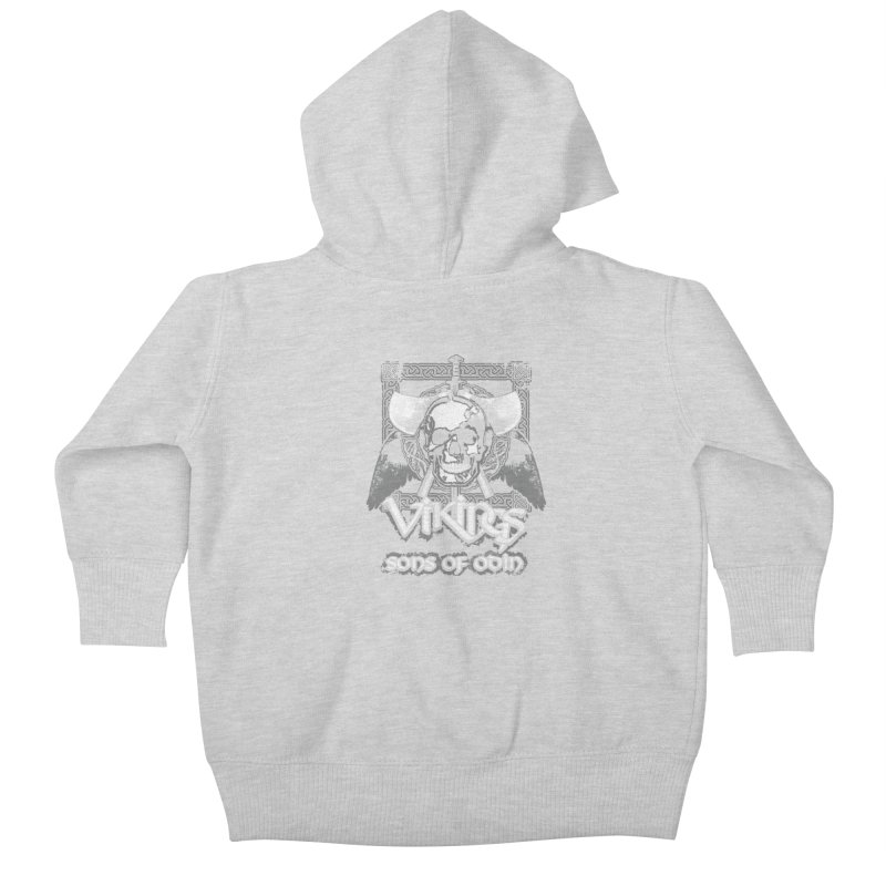 Sons of Odin - Distressed design Kids Baby Zip-Up Hoody by Designs by Quicky