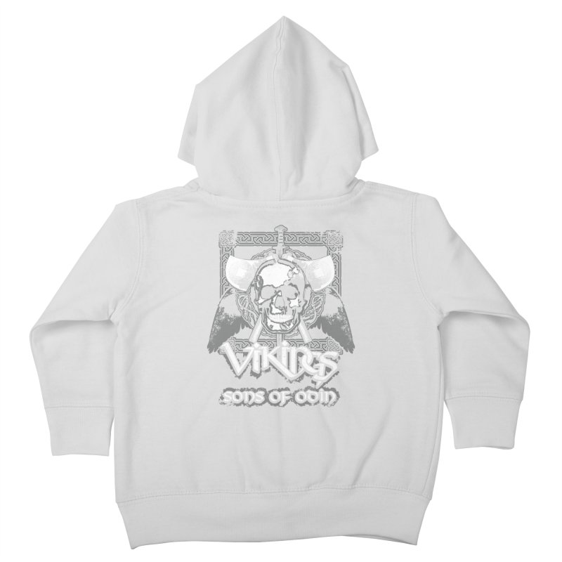 Sons of Odin - Distressed design Kids Toddler Zip-Up Hoody by Designs by Quicky