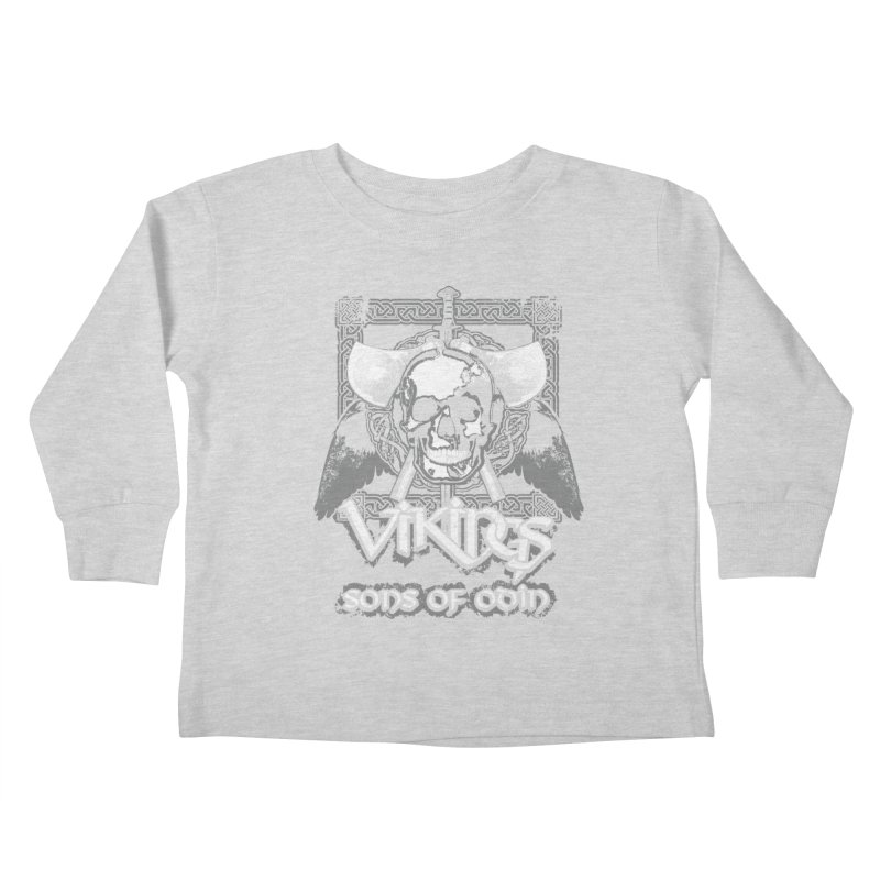 Sons of Odin - Distressed design Kids Toddler Longsleeve T-Shirt by Designs by Quicky