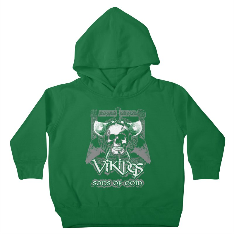 Sons of Odin - Distressed design Kids Toddler Pullover Hoody by Designs by Quicky