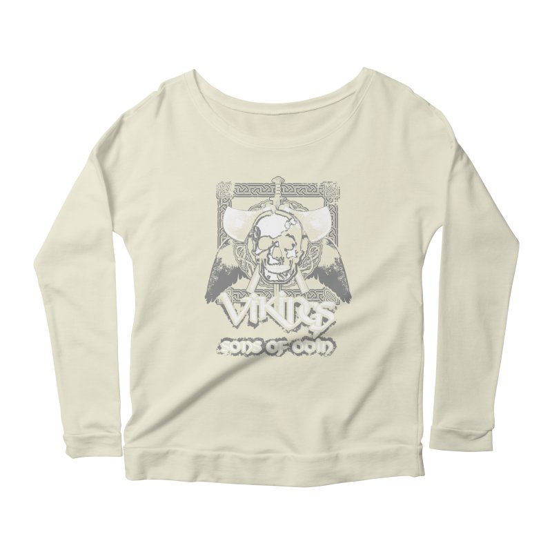 Sons of Odin - Distressed design Women's Longsleeve Scoopneck  by Designs by Quicky