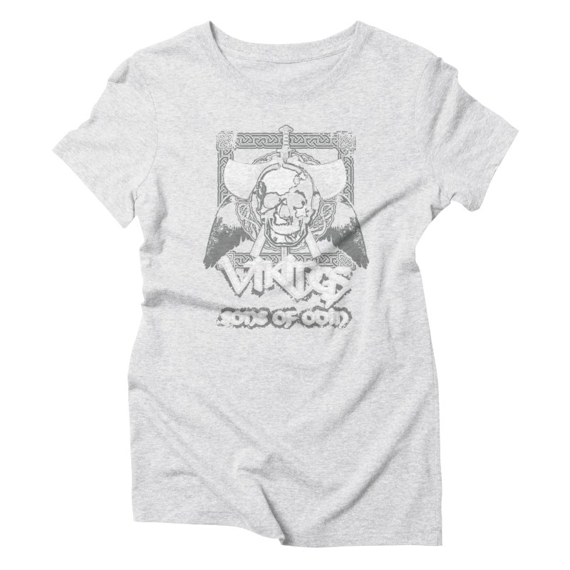 Sons of Odin - Distressed design Women's Triblend T-shirt by Designs by Quicky