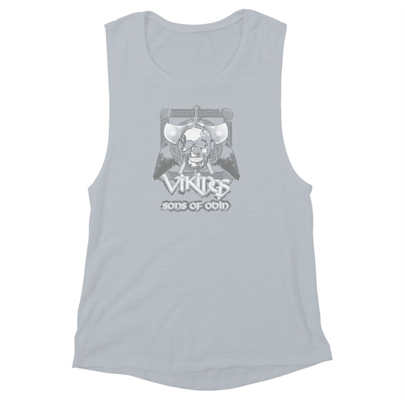 Sons of Odin - Distressed design Women's Muscle Tank by Designs by Quicky