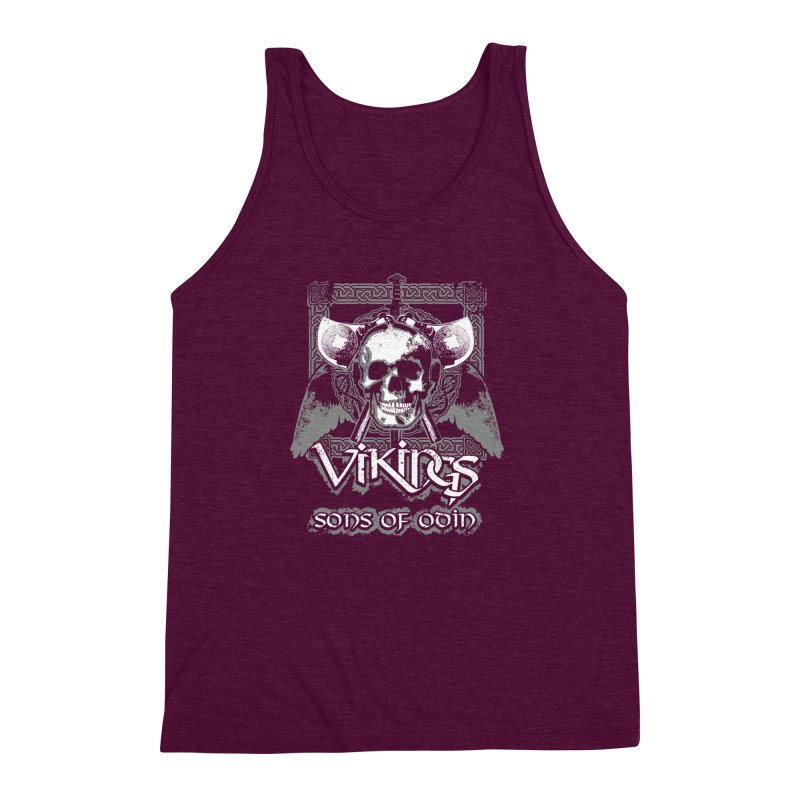 Sons of Odin - Distressed design Men's Triblend Tank by Designs by Quicky