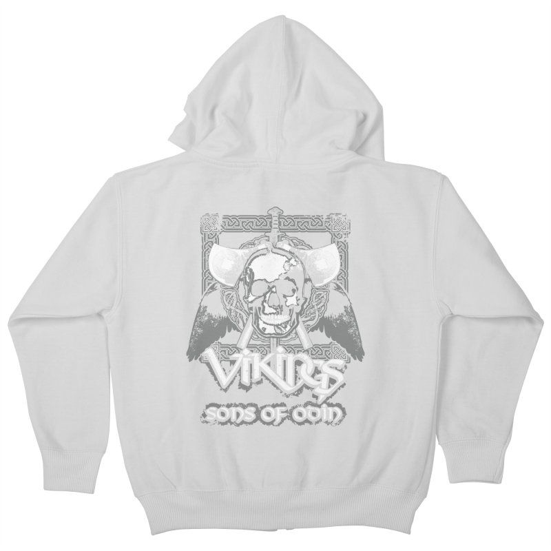 Sons of Odin - Distressed design Kids Zip-Up Hoody by Designs by Quicky