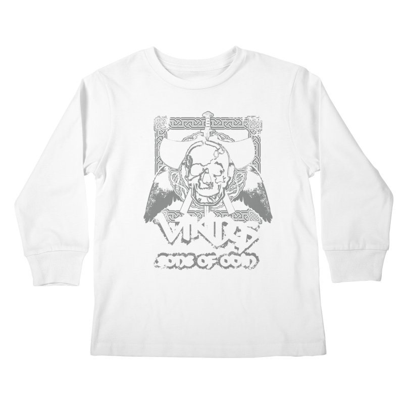 Sons of Odin - Distressed design Kids Longsleeve T-Shirt by Designs by Quicky