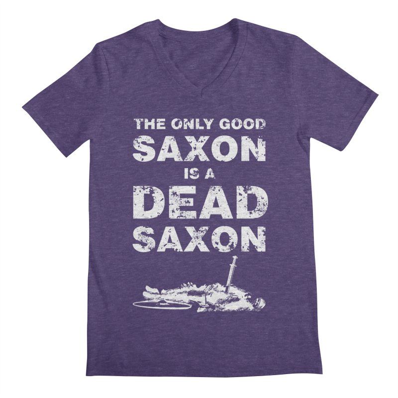 Dead Saxon Men's V-Neck by Designs by Quicky