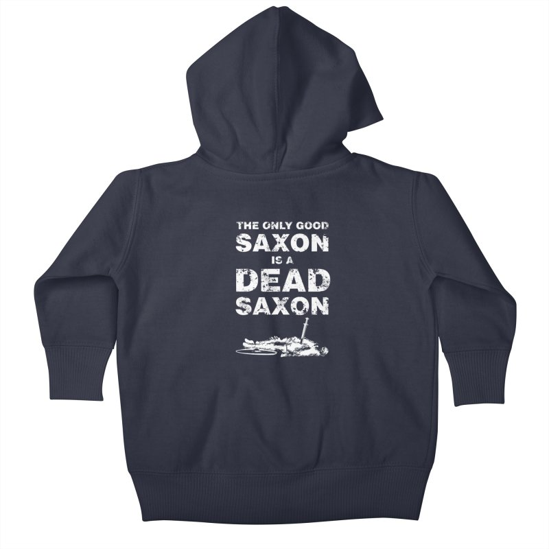 Dead Saxon Kids Baby Zip-Up Hoody by Designs by Quicky