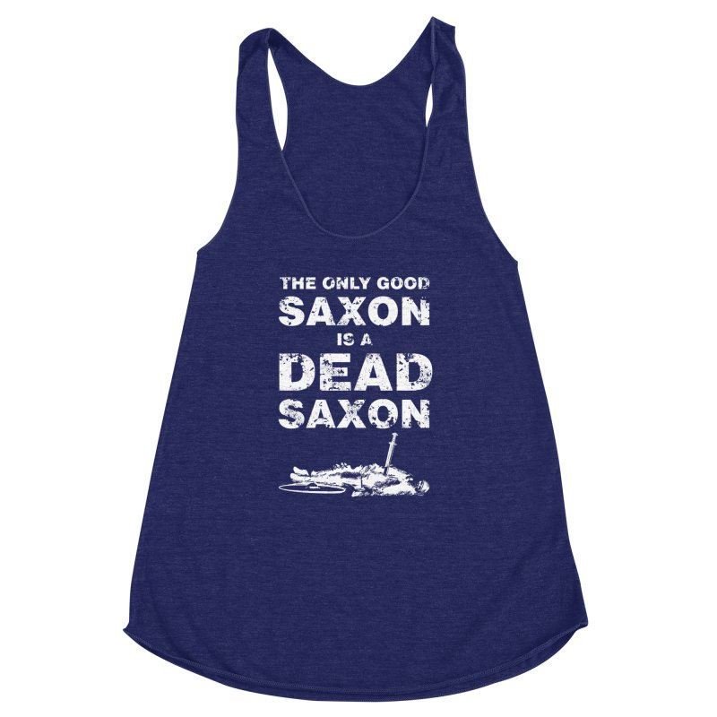 Dead Saxon Women's Racerback Triblend Tank by Designs by Quicky