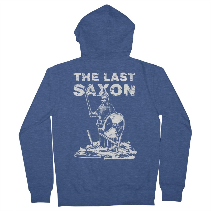 Last Saxon Men's Zip-Up Hoody by Designs by Quicky