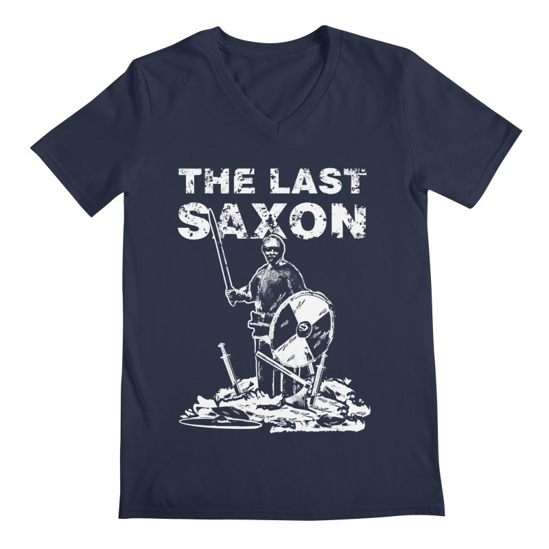 Last Saxon Men's V-Neck by Designs by Quicky