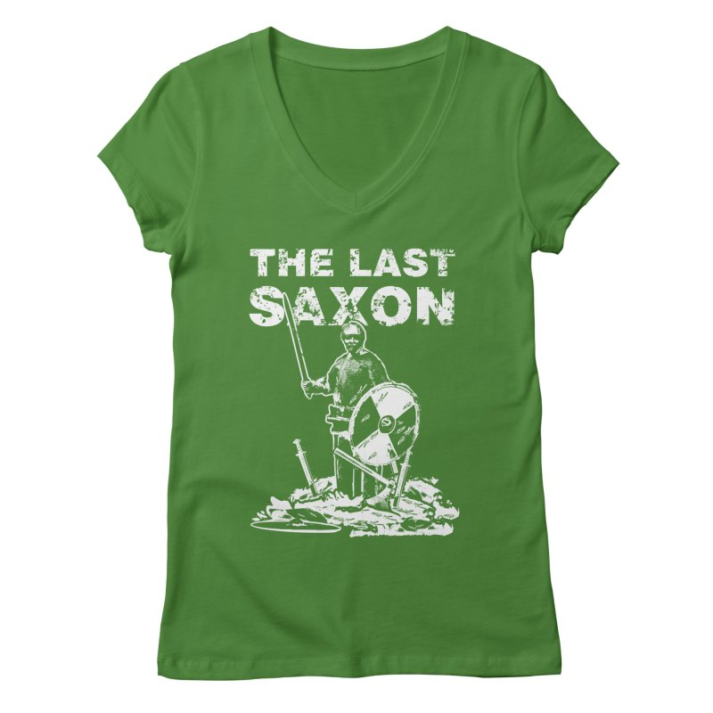 Last Saxon Women's V-Neck by Designs by Quicky