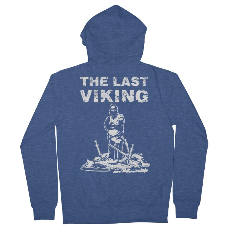 Last Viking Men's Zip-Up Hoody by Designs by Quicky