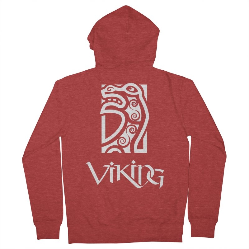 Viking Figurehead Men's Zip-Up Hoody by Designs by Quicky
