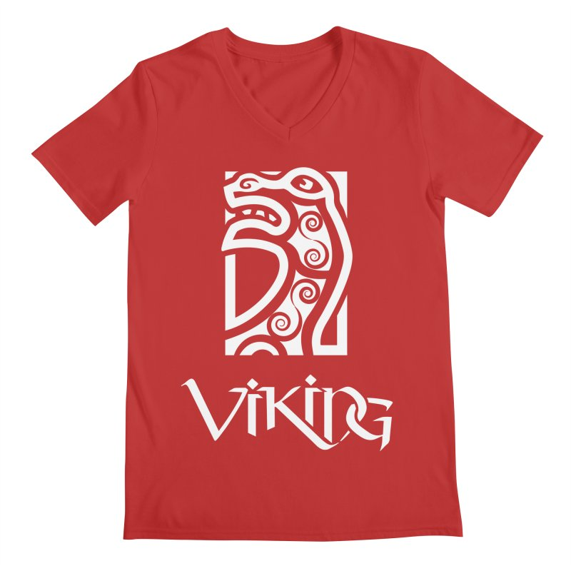 Viking Figurehead Men's V-Neck by Designs by Quicky